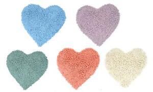 Teppich in Herzform ca. 50 x 50 cm mit Antirutsch-Unterseite 100% Baumwolle