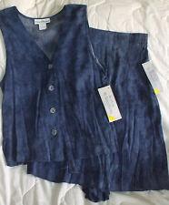 Sz 6 Norton McNaughton Shirt Shorts 2 pc set Woman