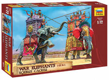 Zvezda 8011 War Elephants  III-I Centuries B.C. Scale 1:72  Plastic Kit