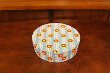 Mary Engelbreit Me Ink Floral Red Blue Yellow Flowers Round Cardboard Gift Box