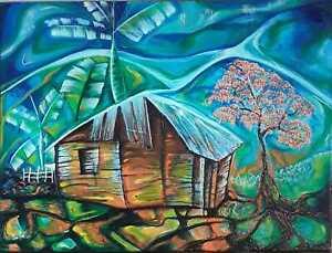 Javier Martinez Memories Acrylic on Canvas 18X24 Cuban Art