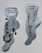 2 Pretty Ankle Bracelet Chains Anklet New