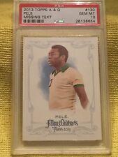 Pelé 2013 Topps Allen & Ginter PSA 10 Gem Mint Missing Text On Back #130