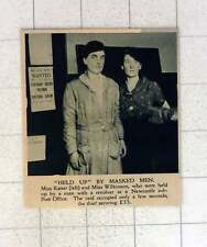 1920 Miss Ratter And Miss Wilkinson Held Up With Revolver Newcastle Post Office