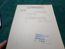 1917 Old Document, Direct Importing Company Boston MA, Coffee and Tea