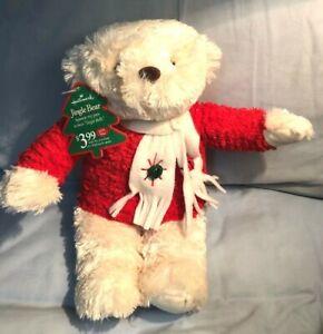 """Hallmark Jingle Bells Teddy Bear Christmas Holiday 8"""" Plush with tags"""