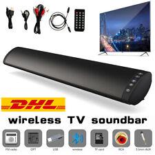 20W Bluetooth Soundbar Subwoofer TV Sound System Heimkino Lautsprecher