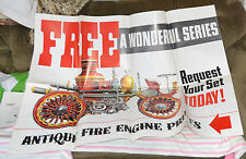 VTG 1960 Cities Service Fire Engine Poster POS Promotional Display Oil Gas N