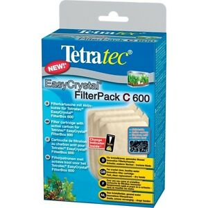 Tetra Easycrystal Filterpack C 600 3 Cartridges Of Filtration With Coal