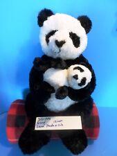 Gund Lana the Panda and her cub beanbag plush(310-1991)