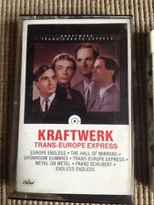 KRAFTWERK TRANS-EUROPE EXPRESS CASSETTE TAPE RARE! TESTED!