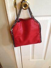 NWT Stella McCartney Falabella Mini Baby Bella Tote Bag, Cherry, $1,055+ Tax