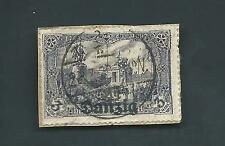 Rare Danzig (Germany) Michel 13a or 13b Used F on piece CV 450-1500 Euros