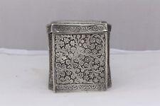 Indian Kashmiri Solid Silver Box 186 Grammes