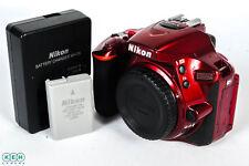 Nikon D5500 Digital SLR Camera Body, Red {24.2 M/P}