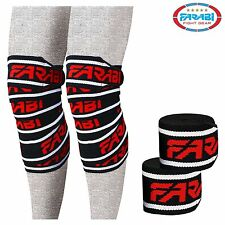 Farabi Weight lifting Knee Wrap Body Building Gym Training Black Fitness
