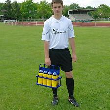 Flaschenträger inkl. 8 Trinkflaschen blau/gelb Neu Trainerbedarf Superspieler24
