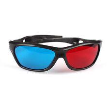 Red Blue Plastic 3D Vision Glasses Dimensional Anaglyph Framed Plasma TV Movie