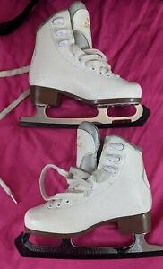 Ice Skates White UK Size 1 EU 33 Graf Bolero Excellent Condition + Bag