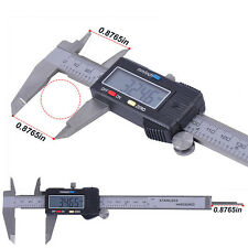 Digital Electronic Gauge Stainless Steel Vernier Caliper Micrometer 0-150mm 6""