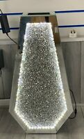 Sparkle Palace LED Diamond Crushed Crystal Sparkly Mirrored Floor Vase 40CM✨