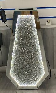 Sparkle Palace LED Diamond Crushed Crystal Sparkly Mirrored Floor Vase 40CM✨