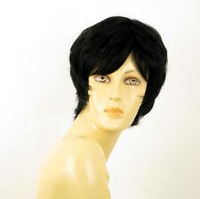 perruque femme 100% cheveux naturel courte noir ref SYLVIE 1b