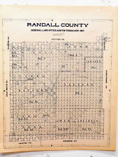 Old Randall County Texas General Land Office Owner Map Canyon Amarillo JA Ranch
