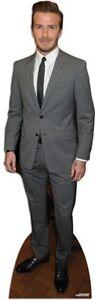 Beckham, David wearing Suit LIFESIZE CARDBOARD CUTOUT STANDEE STANDUP Footballer
