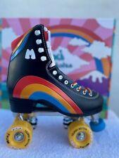 Moxi Black Rainbow Riders Roller Skates Size 7, Women Size 8 8 1/2 NEW