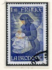 TIMBRE FRANCE OBLITERE N° 2079 METIER LA BRODERIE / Photo non contractuelle