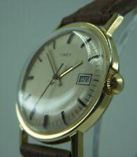 Vintage Mens 1976 Timex Mercury 16560 02576 Manual Date Watch Restored SEE VIDEO