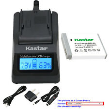 Kastar Battery LCD Fast Charger for Canon NB-6LHH CB2LY Canon PowerShot SX260 HS