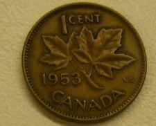 1953 SF Canada Penny Coin