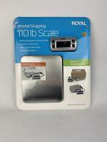 Royal DG110 Digital Postal Scale 110lb / 50kg Maximum Weight Capacity Silver NEW