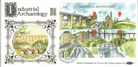22 Carat Gold Benham Official First Day Cover 1989 Industrial Archaeology G035