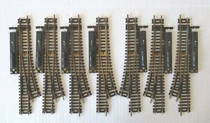 Atlas HO Lot of 7 Brass Left & Right Hand Manual Switch Track & Switch Machine