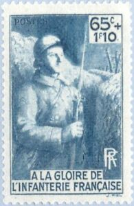 EBS France 1938 To the Glory of the French Infantry YT 387 MH* cv $8