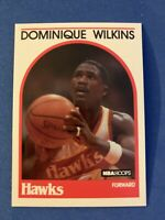 DOMINQUE WILKINS 1989-90 Hoops #130 PACK FRESH Atlanta Hawks HOF