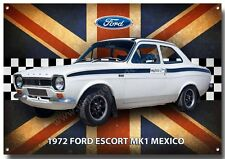 Ford Escort Mk1 Mexico Letrero Metal, CLÁSICO COCHES FORD , 1970's cars.iconic
