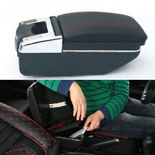 Car Central Container Armrest Box Black Leather Center Storage Case Accessories