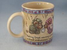 Boyds Bear Collection Coffee Cup Mug Bearware Pottery Cheerleader Rah Rah
