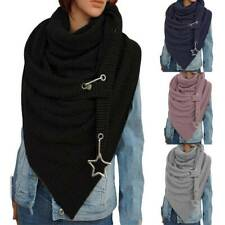 Mens Womens Oversize Soft Knitted Shawl Wrap Scarf Winter Warm Neck Tube Scarves