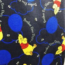 Disney Winnie The Pooh Bother Free Day Balloons Blue Honey Bees Neck Tie Black