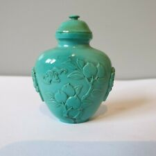 8# Antique Chinese Carved Turquoise Snuff Bottle