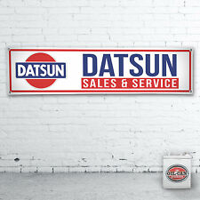 1200 x 305mmm DATSUN SALES & SERVICE  Banner heavy duty workshop, garage mancave