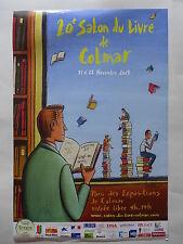 Affiche Loustal - 20e Salon du Livre de Colmar, 40X60cm, dédicacée