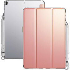 iPad 10.2 Tablet Case Poetic Stand Slim Folio Sleep/Wake Cover Rose Gold