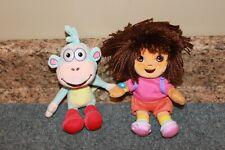 LOT TY Beanie Babies Dora the explorer & Her Monkey Boots Bean plush doll