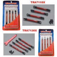 Traxxas 7118X Aluminum Push Rods & Toe Links Red Combo : 1/16 E-Revo VXL